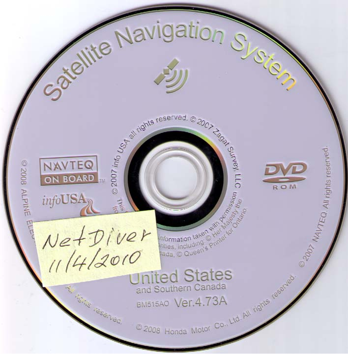 SOLD White Navigation DVD