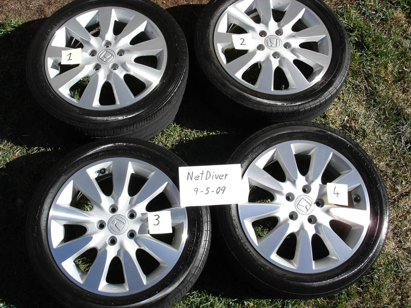 Honda Factory Rims >> 06 Accord V6 Oem Rims Tires Honda Accord Forum Honda